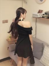 Summer Sexy One Shoulder Short Dresses