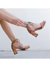 Fashion Peep Toe Strappy Sandals