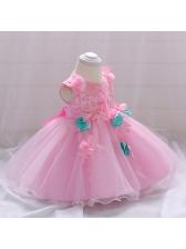 Fashion floral Print Sleeveless Dresses For Kid