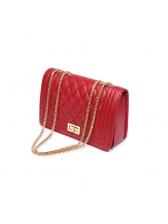 Korean Chain Plaid Shoulder Bags
