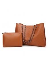 New Euro Chains Plaid Shoulder Bags