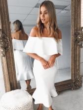 Hot Sale Elegant Off Shoulder Bodycon Dresses