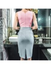 Sexy V Neck Patchwork Club Wrap Dresses