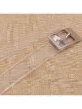 Korean Fashion Transparent Solid Belt