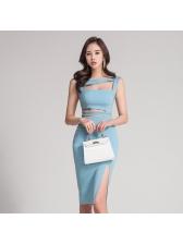 Korean New Hollow Out High Waist Night Dresses