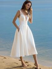 Euro Summer Strap Solid Long Dresses