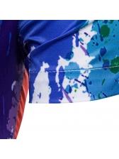 Summer Fashion Colorful Splash Ink Printing Shirts