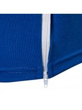 Zipper Up Design Irregular Hem O Neck Tee