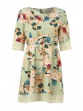 Elegant Half Sleeve Floral Dresses