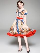 Euro Elegant National Style A Line Dresses