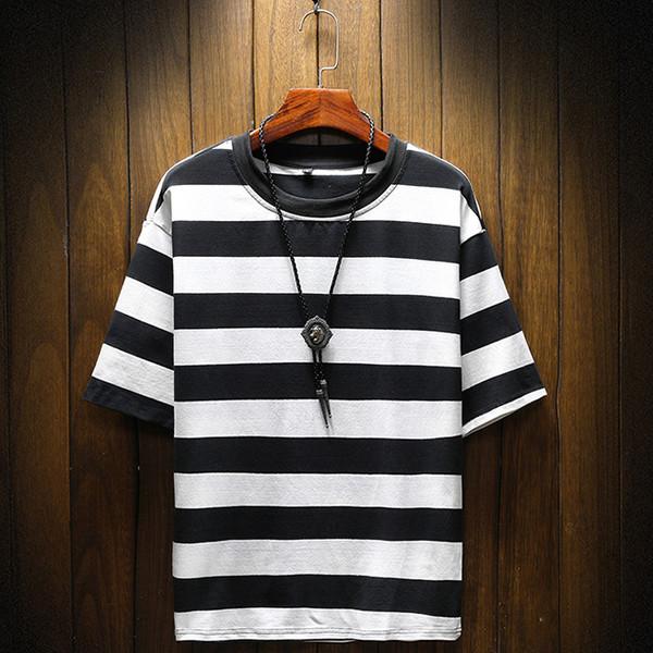 Korean Fashion Striped Short Sleeve Tee