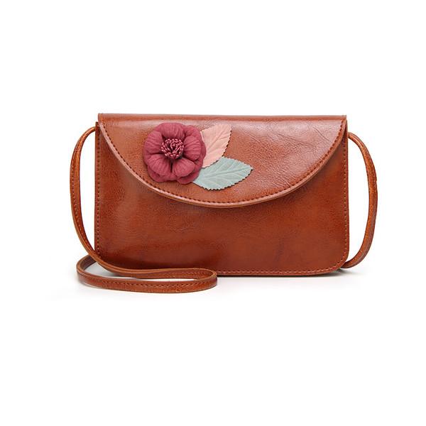 Vintage Floral Single-Shoulder And Hand Bag