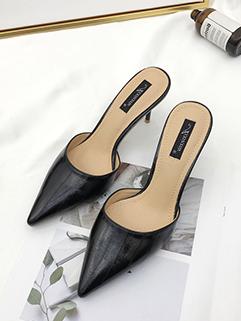 Euro Fashion Pointed Toe Stiletto Slippers
