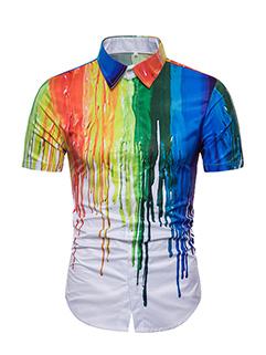 Personality Splash Ink Shirts Design