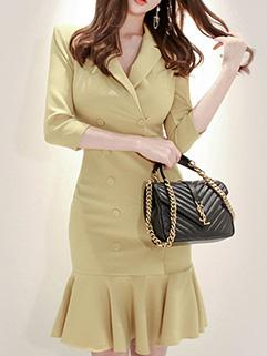 Elegant OL Style Bodycon Short Dresses
