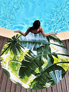Summer Beach Style Leaf Printing Pashmina Scarf