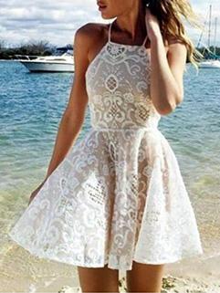 Hot Sale Halter Printed Short Dresses
