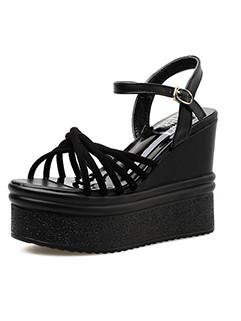 Roma Style Wedge Platform Open Toe Sandals