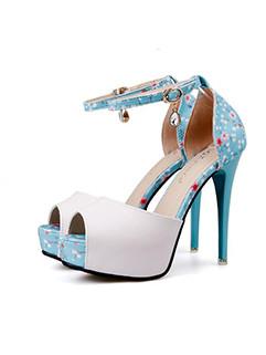 Chic Color Matching Platform Printing Sandals