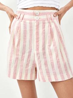 Summer High Waist Striped Short(3-4 Days Delivery)