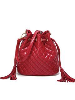 New Arrival Geometric Design Tassels Bucket Bags