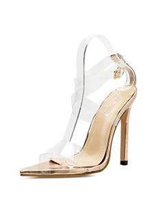 Euro Pointed Toe Thin Heel Sandals