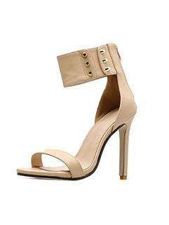 Chic Rivet Thin Heel Open Toe Sandals