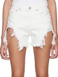 Fashion Worn Out Solid Denim Short Pants(3-4 Days Delivery)