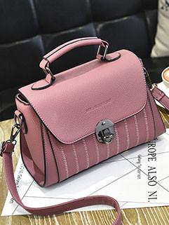 Hasp Vintage Solid Shoulder Bags For Women(3-4 Days Delivery)