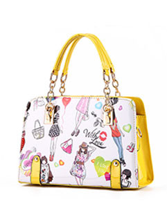 Beauty Printing Chains Women Handbags(3-4 Days Delivery)