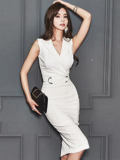 Fashion OL Style Bodycon Sleeveless Dresses