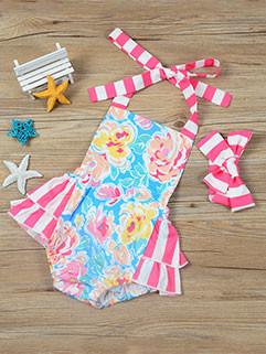 Summer Striped Printed Cute Romper
