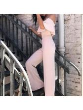Hot Sale Backless Solid Straps Jumpsuit