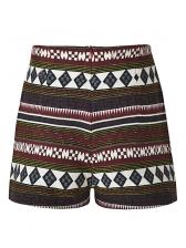 Vintage Bohemia High Waist Printed Short Pant