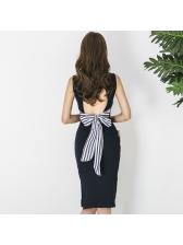 Korean Backless Bandage Sleeveless Dresses