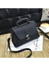 Hasp Vintage Solid Shoulder Bags For Women(3-4 Days Delivery)