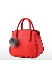 Elegant Hair Bulb Decor Women Handbags(3-4 Days Delivery)