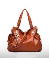 Classic Tassels Solid Women Handbags