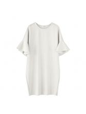 Euro Style Flare Sleeve Casual Plus Size Dresses