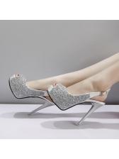 Fashion Lace Platform Peep Toe Buckle Sandals