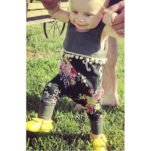 Fashion Sleeveless Printed Infant Romper