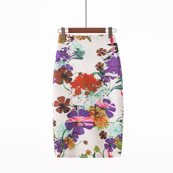 Fashion Floral High Waist Wrap Skirts