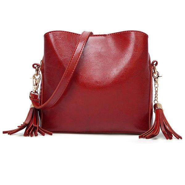 Vintage Style Elegant Tassel Shoulder Bag