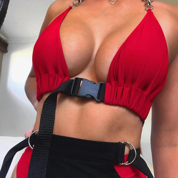 Euro Halter Cropped Top Women Camisoles
