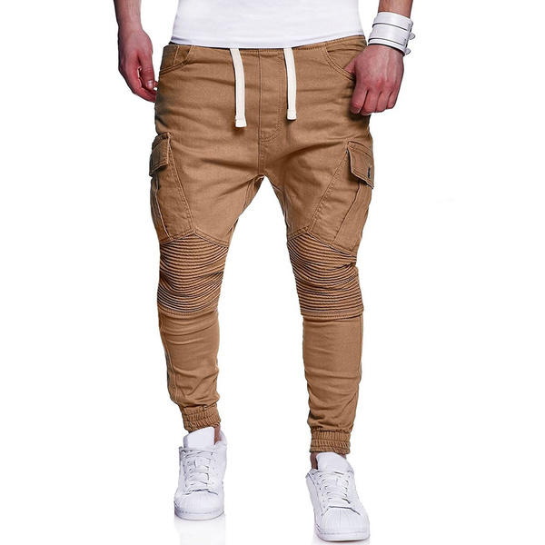 Hot Sale Simple Solid Long Pants For Men