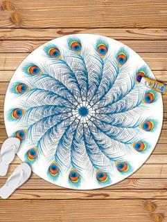 Personality Proudasa Peacock Pattern Beach Scarf