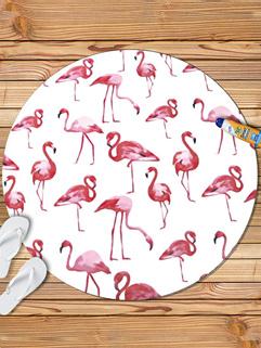 Elegant Flamingo Print Beach Scarves For Women