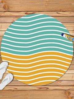 Beach Style Striped Printing Pashmina Scarf