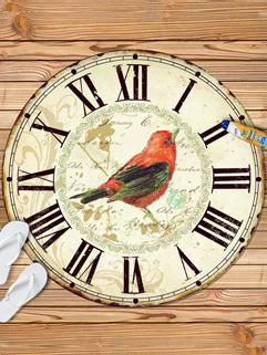 Vintage Clock Printing Bird Beach Scarf