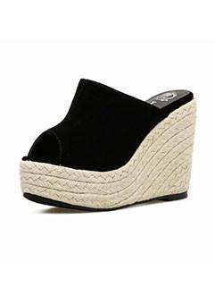 Korean Design Peep-Toe Women Wedges